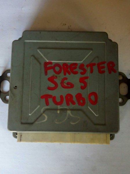 блок управления двигателя SUBARU FORESTER  EJ205-TURBO 2002-2004
