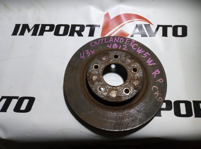 диск тормозной MITSUBISHI OUTLANDER CW5W 4B12 2005-2009 передний
