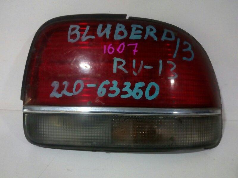 стоп-сигнал NISSAN BLUEBIRD EU13 SR18DE 1991-1995  правый