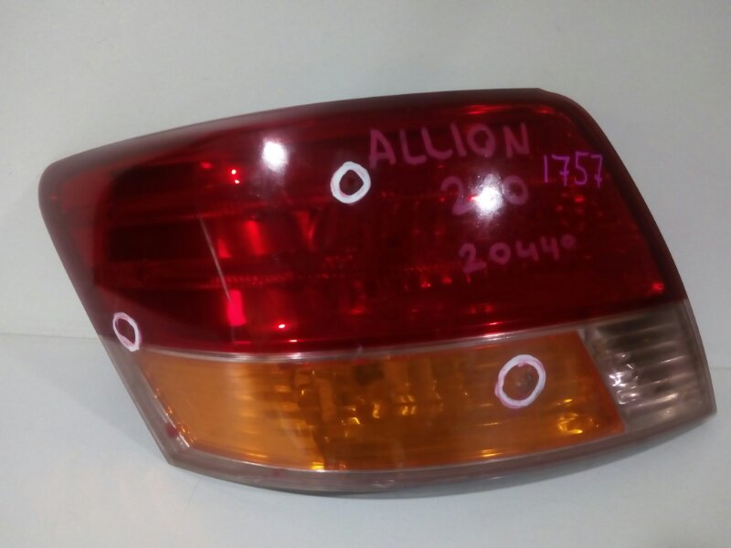 стоп-сигнал TOYOTA ALLION ZRT260 2ZR-FE 2007-2010  левый