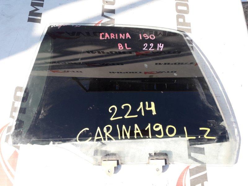 стекло двери TOYOTA CARINA AT190 4A-FE 1992-1996 задний левый