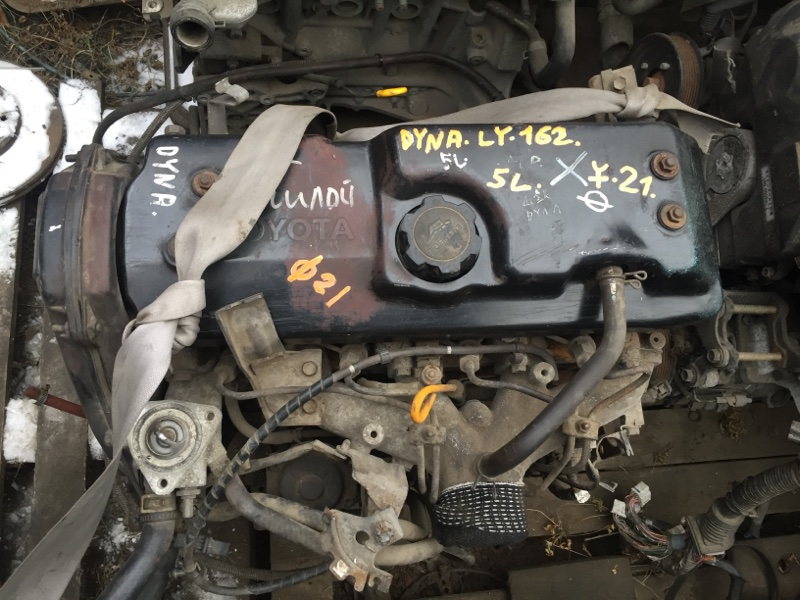 двигатель TOYOTA DYNA LY162 5L 1998